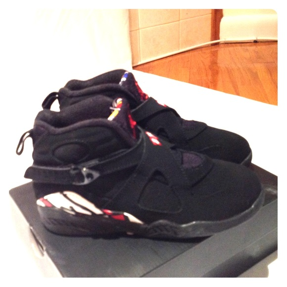 promo code ce5b8 56285 Kid s Jordan 8 Retro (PS) 305369 061 Black Hi Top
